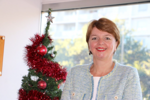 Marymead CEO Camilla Rowland at launch of 666 ABC Canberra Giving Tree 23 November 2015