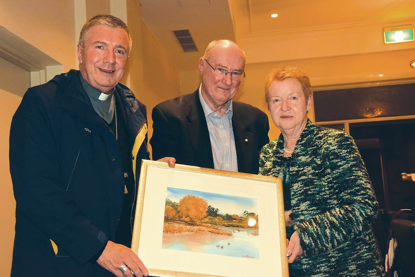 Kevin and Margaret Croker with Archbishop Christopher Prowse
