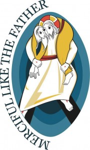 The logo for the Jubilee Year of Mercy, created by Fr Marko Rupnik SJ, depicts Jesus taking upon his shoulders the lost soul. PHOTO: ONLINE