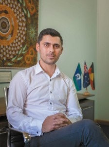 Mustafa Karimi is now employed as a youth worker at Marist. PHOTO: LOUI SESELJA
