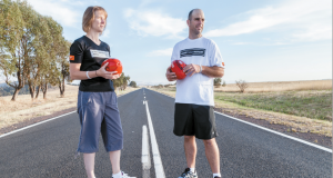 South Woden parishioners Matt and Wendy Napier have embarked on several fundraising ventures in the past few years, in an effort to raise awareness of global poverty. Matt's next mission is to walk 2,250km through Africa in June, kicking a soccer ball the whole way. Photo: SUPPLIED